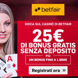 Bonus registrazione Betfair