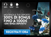 Bonus registrazione Paddy Casino
