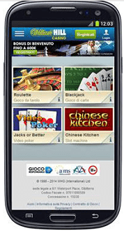 William Hill Casinò Mobile