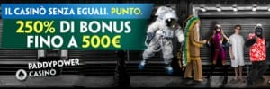 Paddy Power Bonus Benvenuto