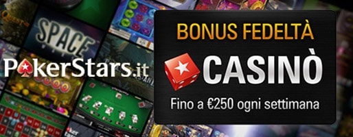 pokerstars casino bonus fedelta