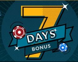 7 days bonus