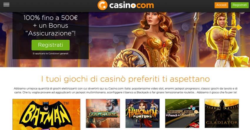 nuovo sito Casino.com