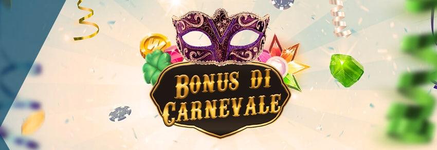 bonus carnevale 2018 starcasino