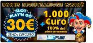 30 euro gratis senza deposito casino betflag