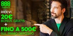 nuovo bonus benvenuto 888 casino