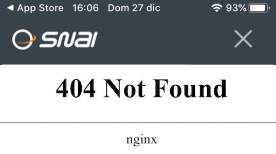 App Snai non funziona