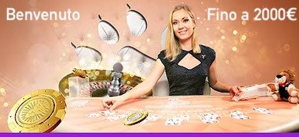 Bonus Benvenuto Casino Live LeoVegas