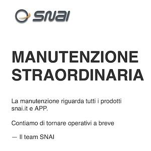 Snai non funziona: sito e app sono down, inutilizzabili