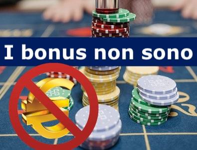 i bonus non sono soldi veri